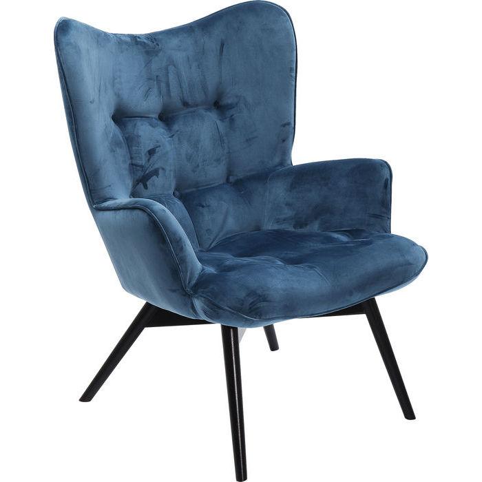 poltrona blu kare design lops arredi