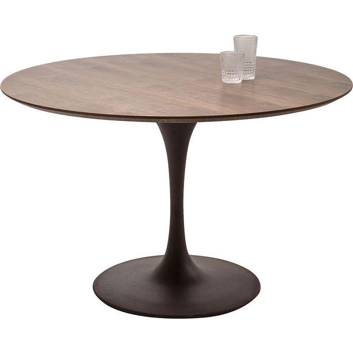 tavolino legno rotondo kare design lops arredi
