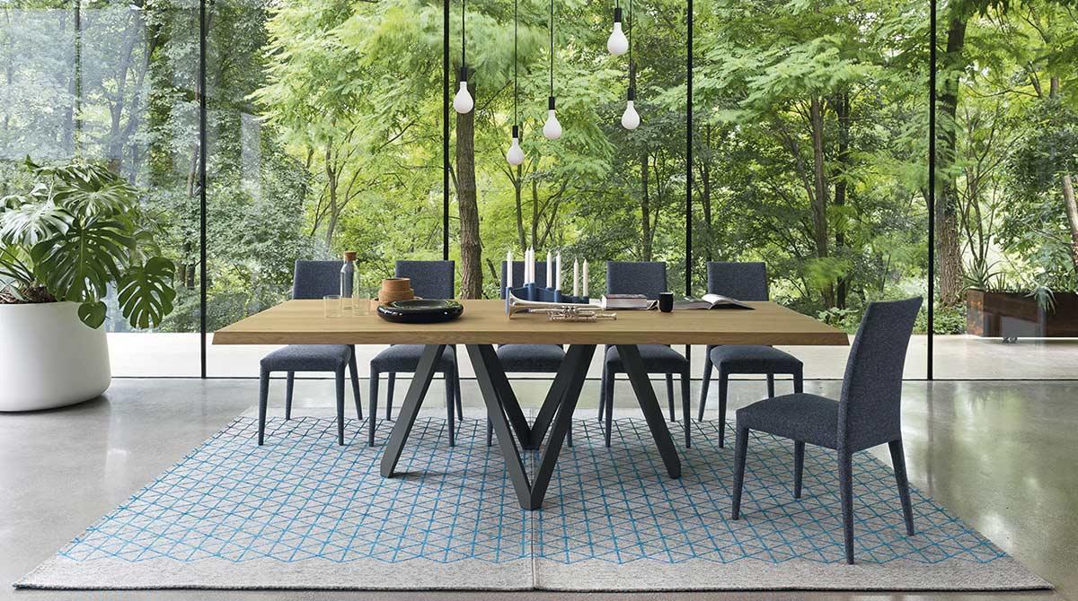 Tavolo da pranzo moderno Cartesio Lops Arredi