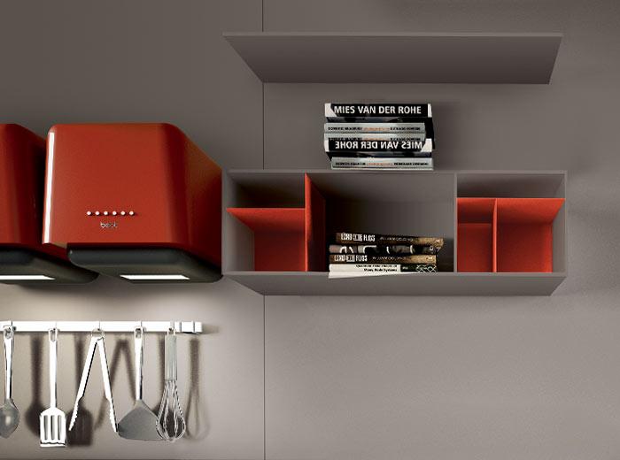 cucina-stile-moderno-parete-attrezzata - Lops Arredamento