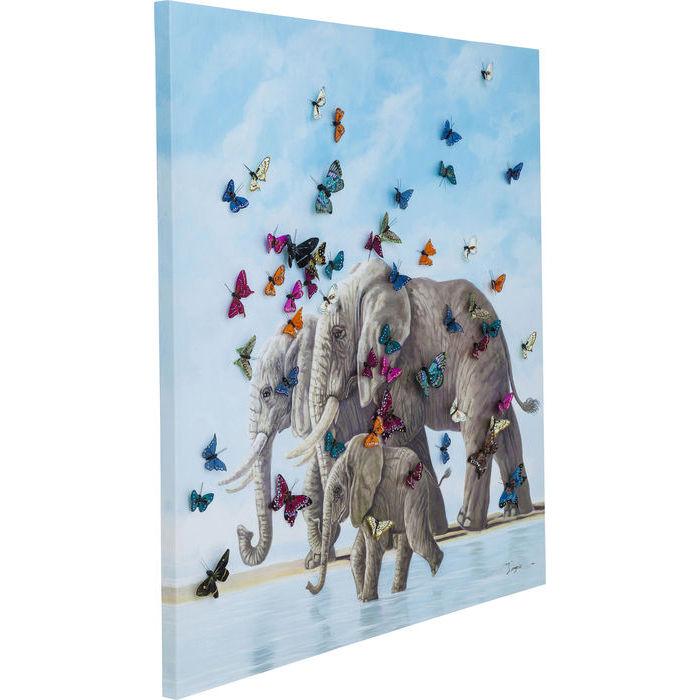 Idee regalo Lops Kare quadro elefanti farfalle