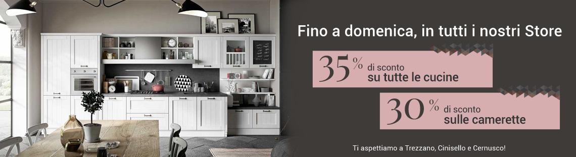 Sconto 35% su tutte le cucine e camerette