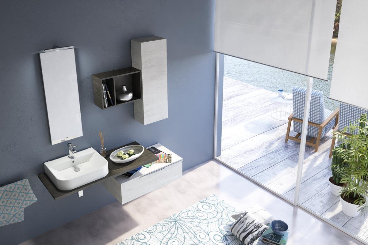 Arredo bagno moderno easy lops new progetto 2 bagni for Lops arredo bagno