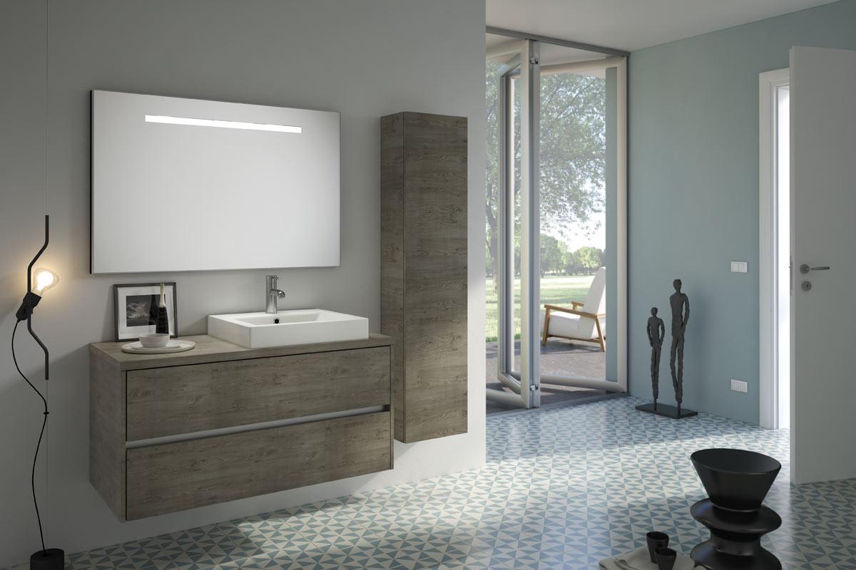 Arredo bagno moderno easy lops new progetto 3 bagni for Lops arredo bagno