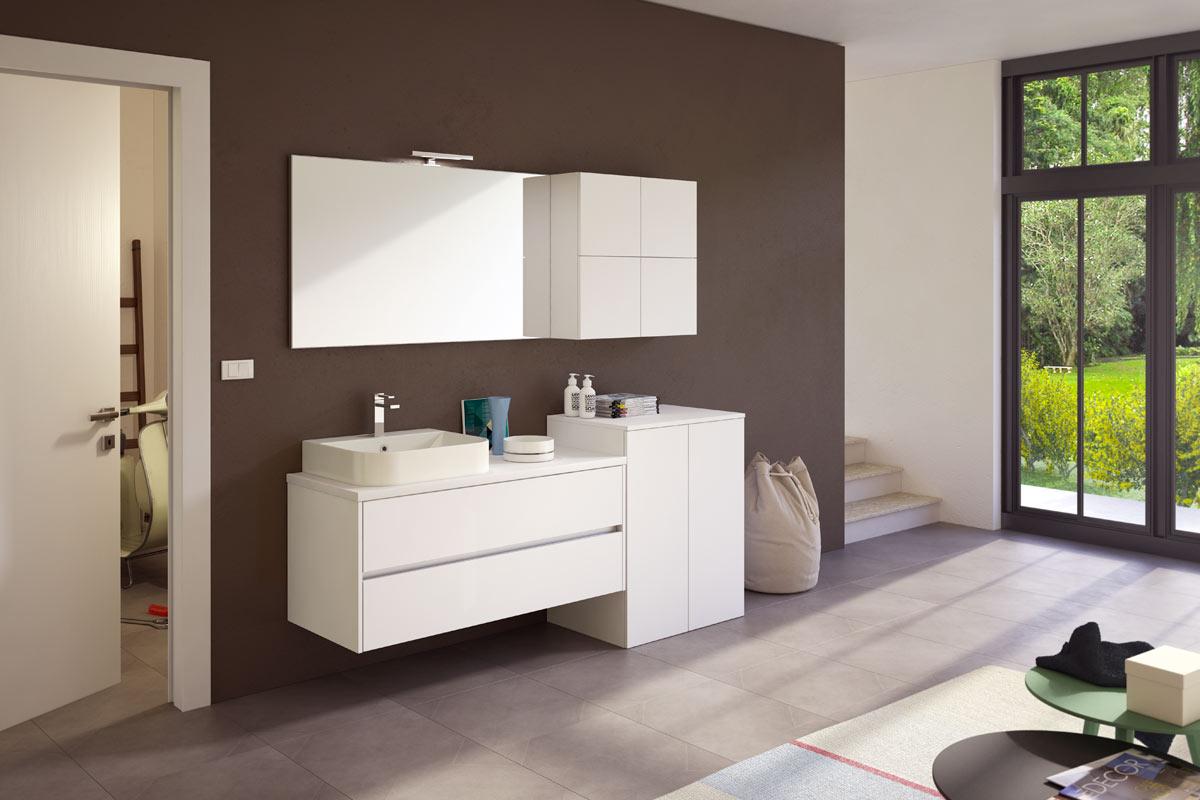 Arredo bagno moderno easy lops new progetto 4 bagni for Lops arredo bagno