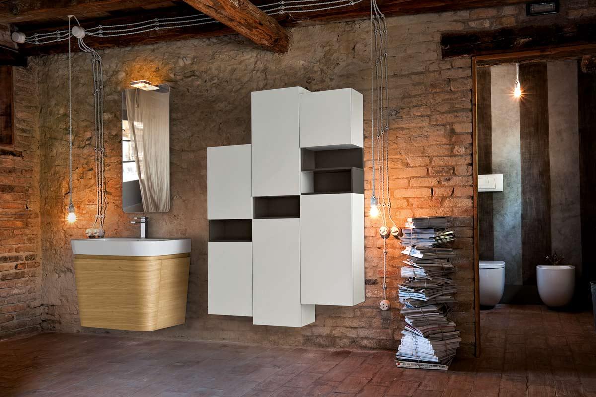Arredo bagno moderno Top Lops Brera Design legno - Acquistabile in ...