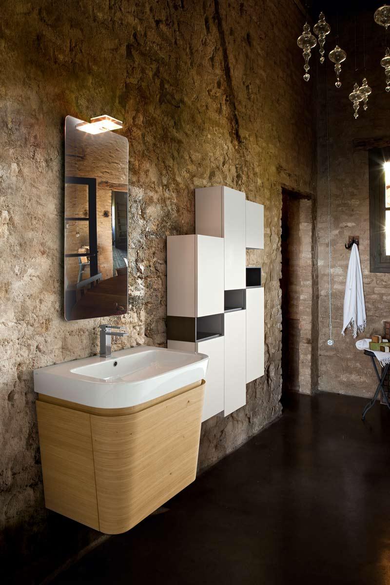 arredo bagno moderno top lops brera design legno - acquistabile in ... - Bagni Moderni Legno