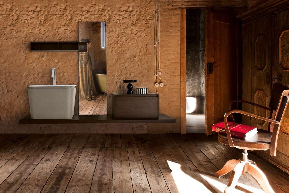 arredo bagno moderno top lops brera design legno - acquistabile in ... - Foto Arredo Bagno Moderno