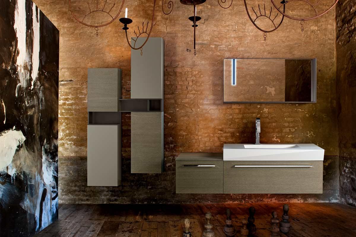 arredo bagno moderno top lops brera design legno - acquistabile in ... - Design Arredo Bagno