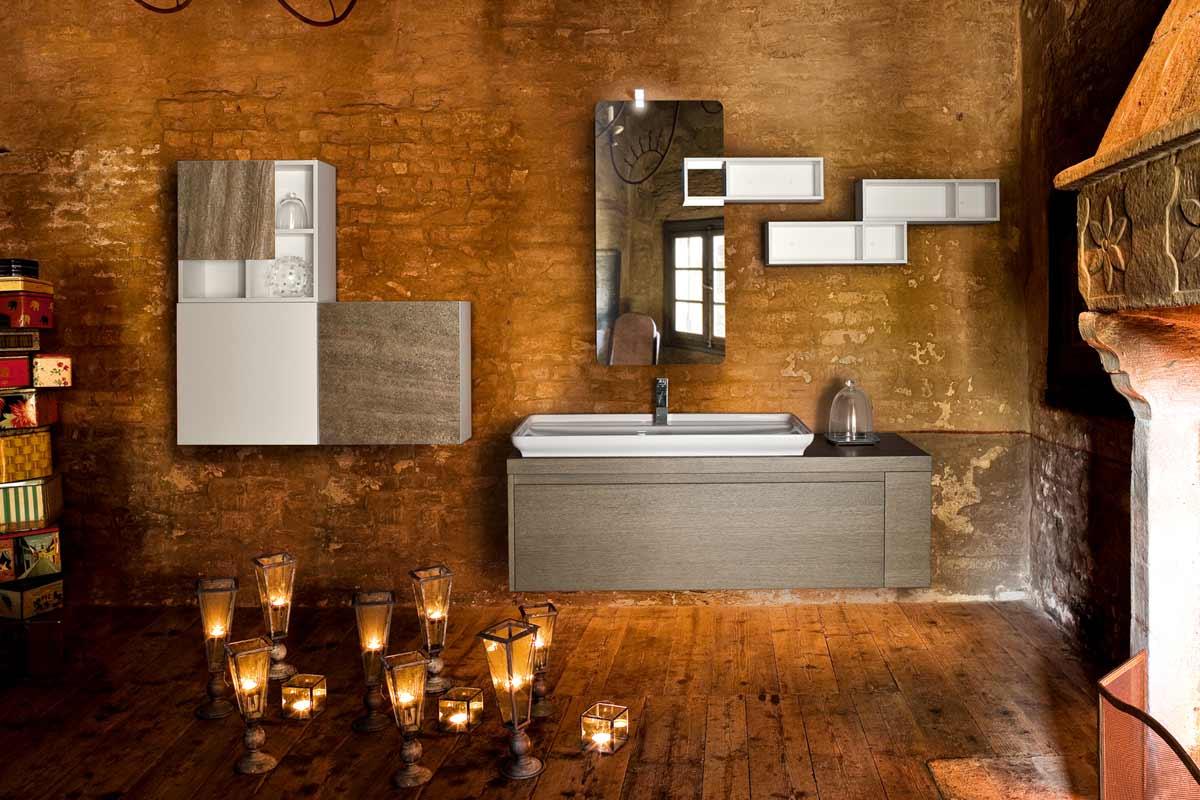 arredo bagno moderno collezione lops brera design materico