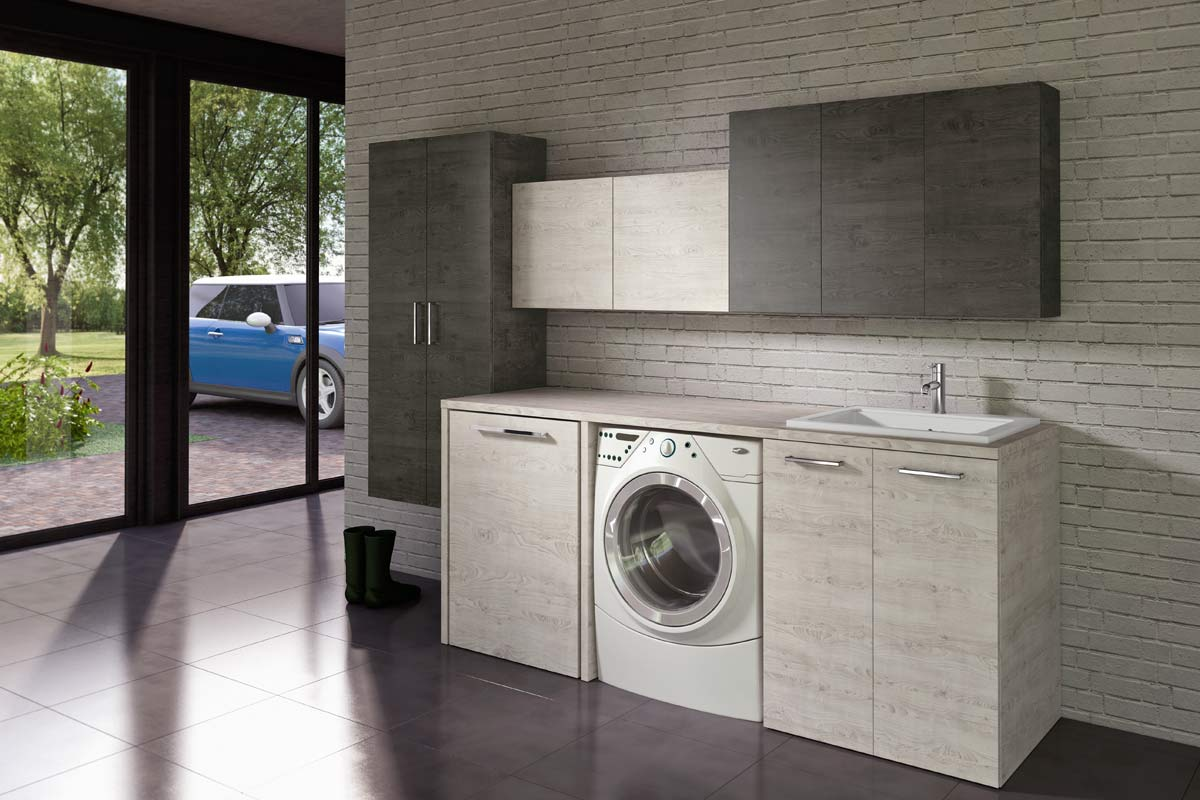 Arredo bagno lavanderia Top Lops Quick Progetto 1 - Acquistabile ...