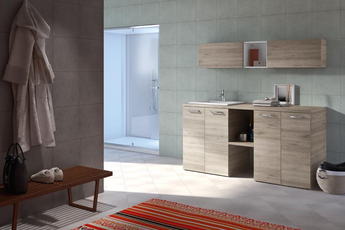 Arredo bagno lavanderia top lops quick progetto 3 bagni for Lops arredo bagno