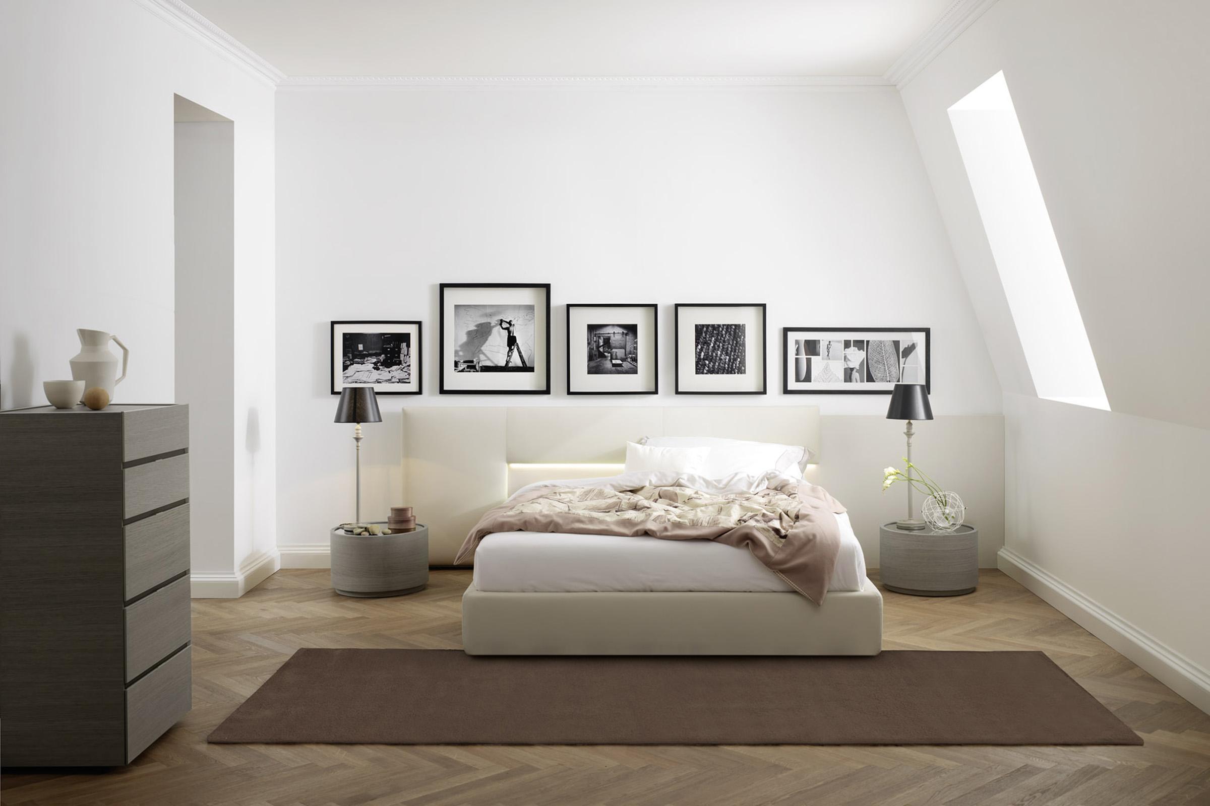 Letti In Legno Con Testiera Imbottita : Letto in legno moderno. free letto moderno in legno con testiera