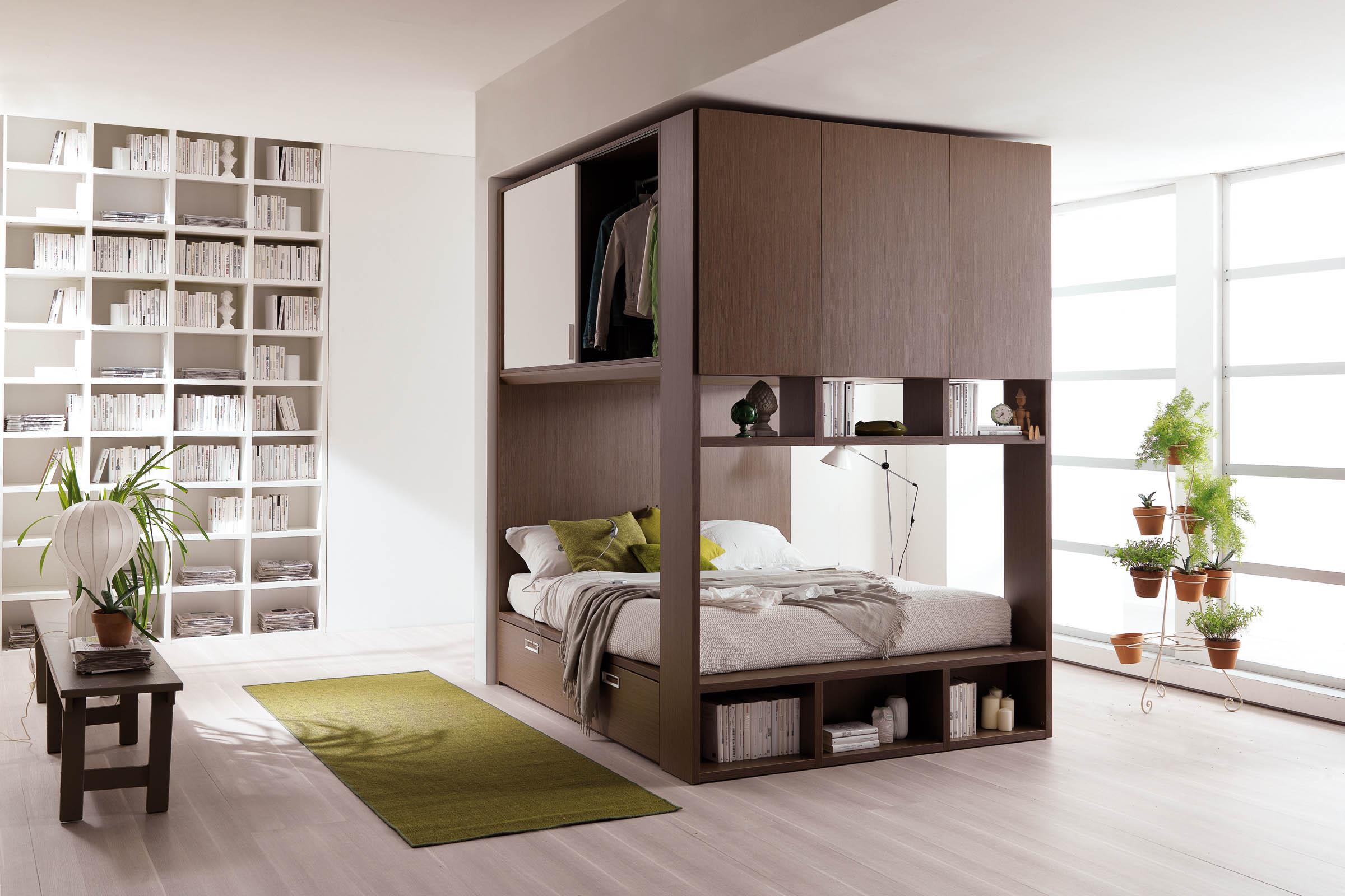 Idee Salvaspazio Camera Da Letto : Soluzioni per camere da letto piccole