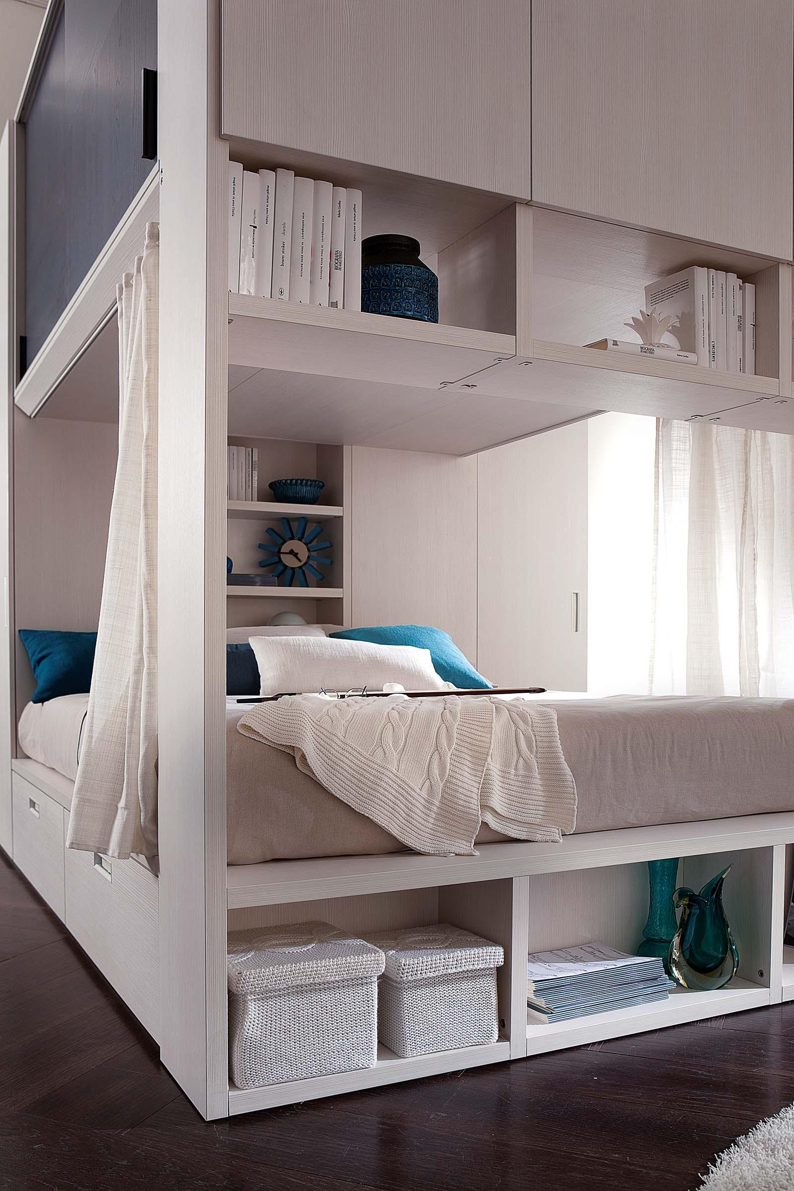 Camera componibile salvaspazio moderna top lops d27 for Camera da letto a ponte moderna