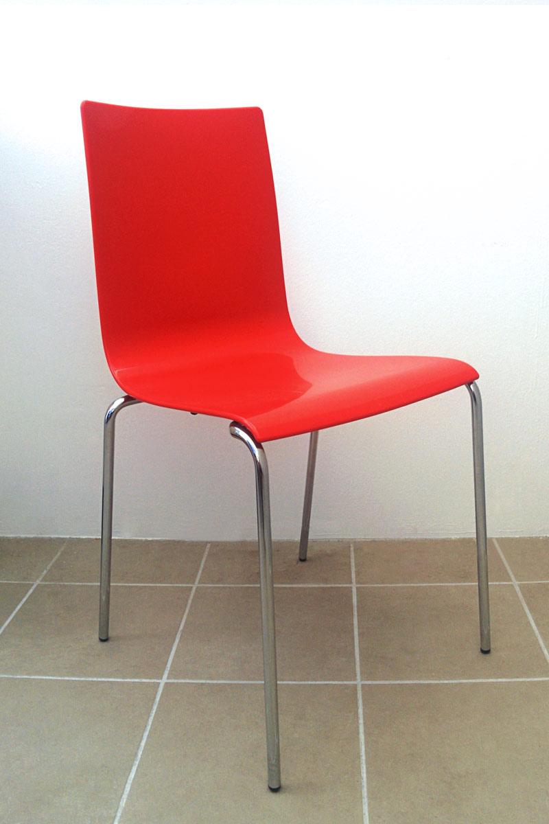 Sedia outlet collezione lops passepartout rosso for Outlet della sedia milano