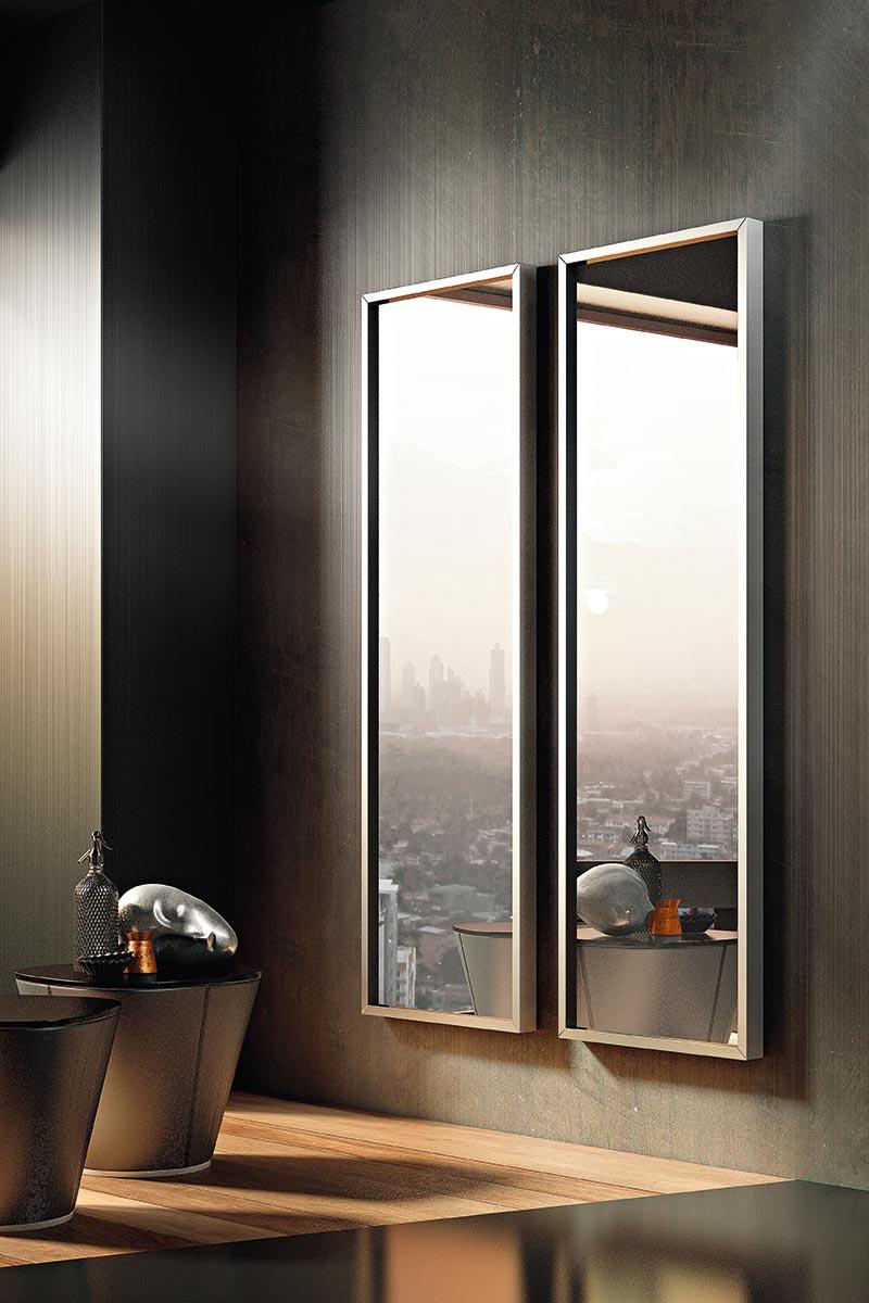 Specchio moderno riflessi viva acquistabile in milano e for Espejos modernos para habitaciones