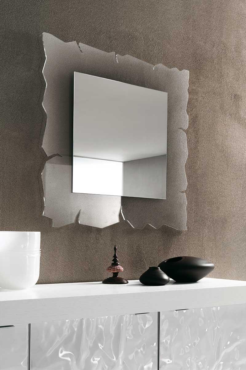 Specchio moderno riflessi vision with specchiera camera da - Bagiu per camera da letto ...