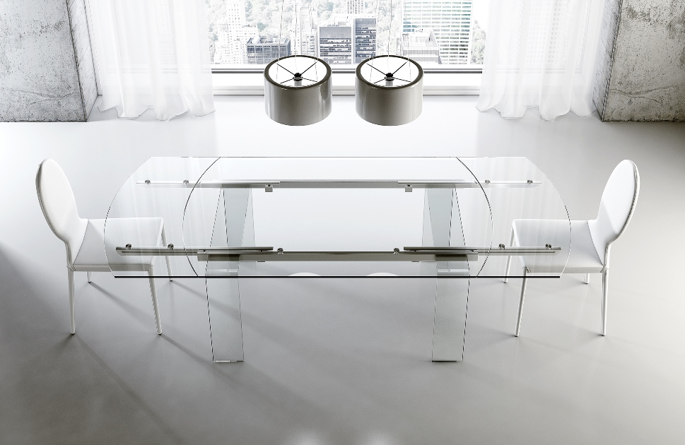 Tavolo moderno riflessi shangai acquistabile in milano e for Riflessi tavolo shangai allungabile