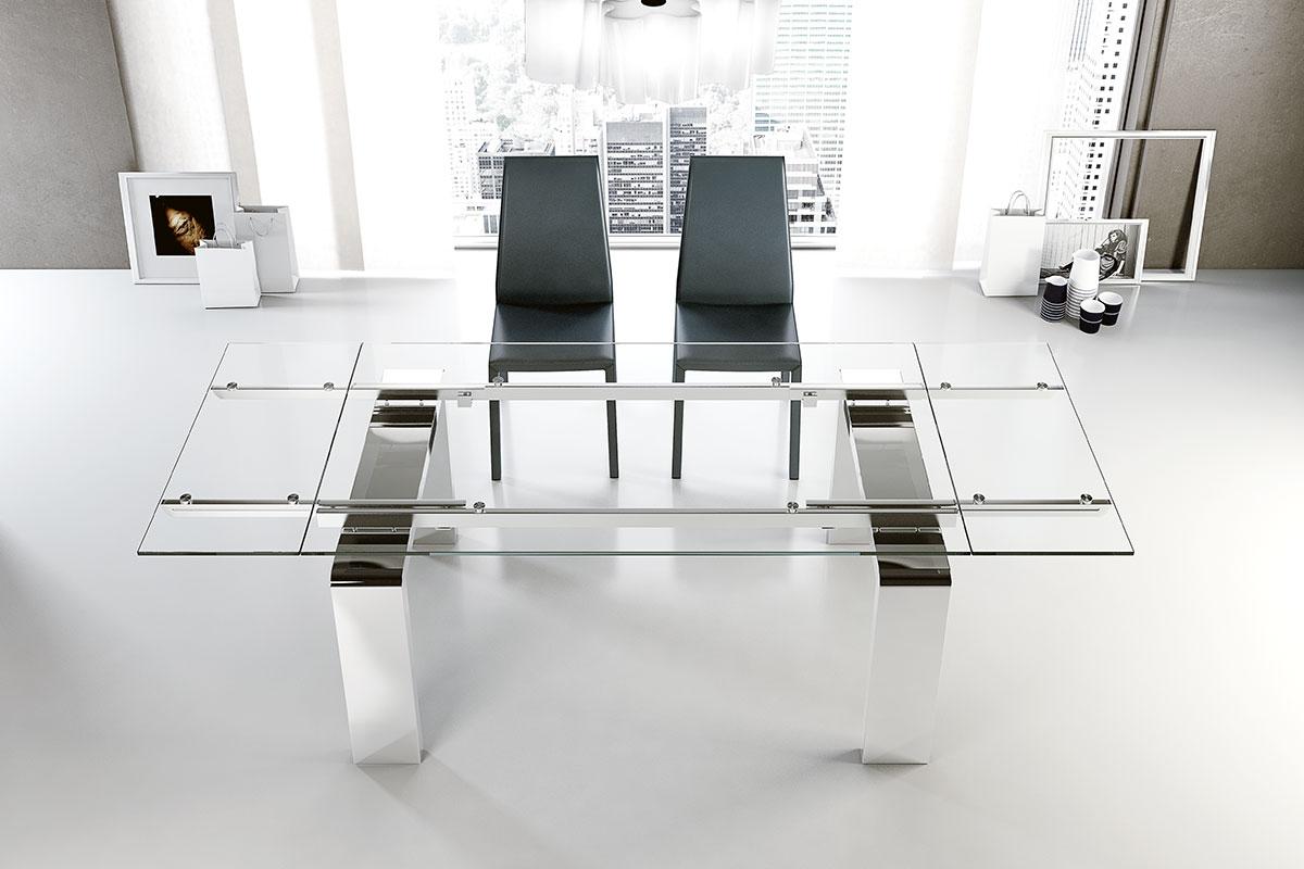 tavolo moderno allungabile riflessi mito tavoli