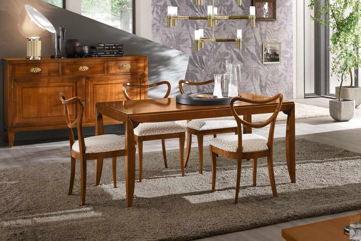 Tavolo classico allungabile le fablier mimose tavoli acquistabile in milano e provincia - Tavolo allungabile classico ...