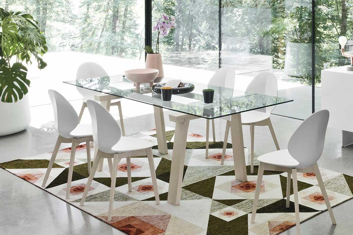 Tavolo moderno allungabile calligaris levante tavoli for Calligaris tavolo allungabile