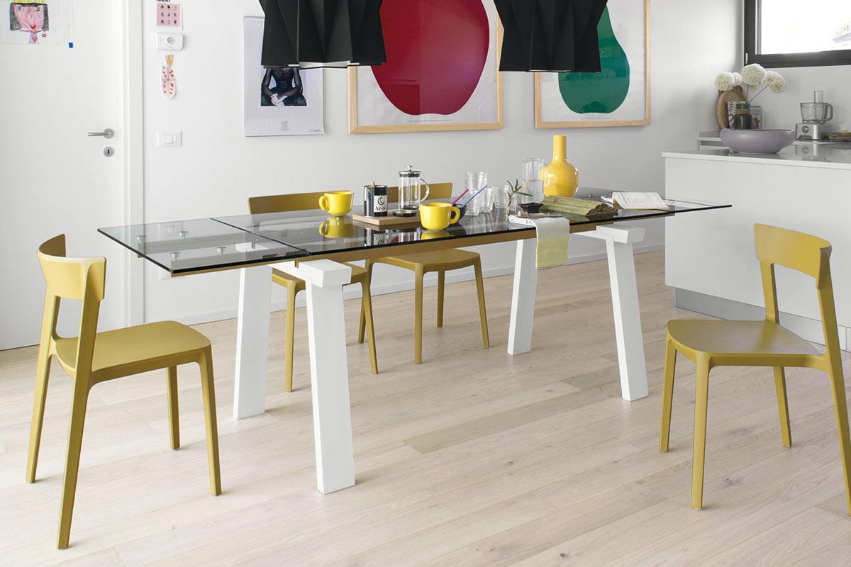 Tavolo moderno allungabile calligaris levante tavoli acquistabile in milano e provincia - Tavolo allungabile milano ...