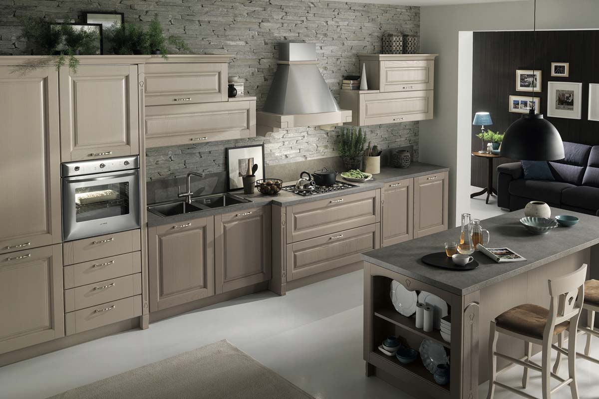 Cucine classiche componibili top lops progetto bolgheri for Cucina classica bianca