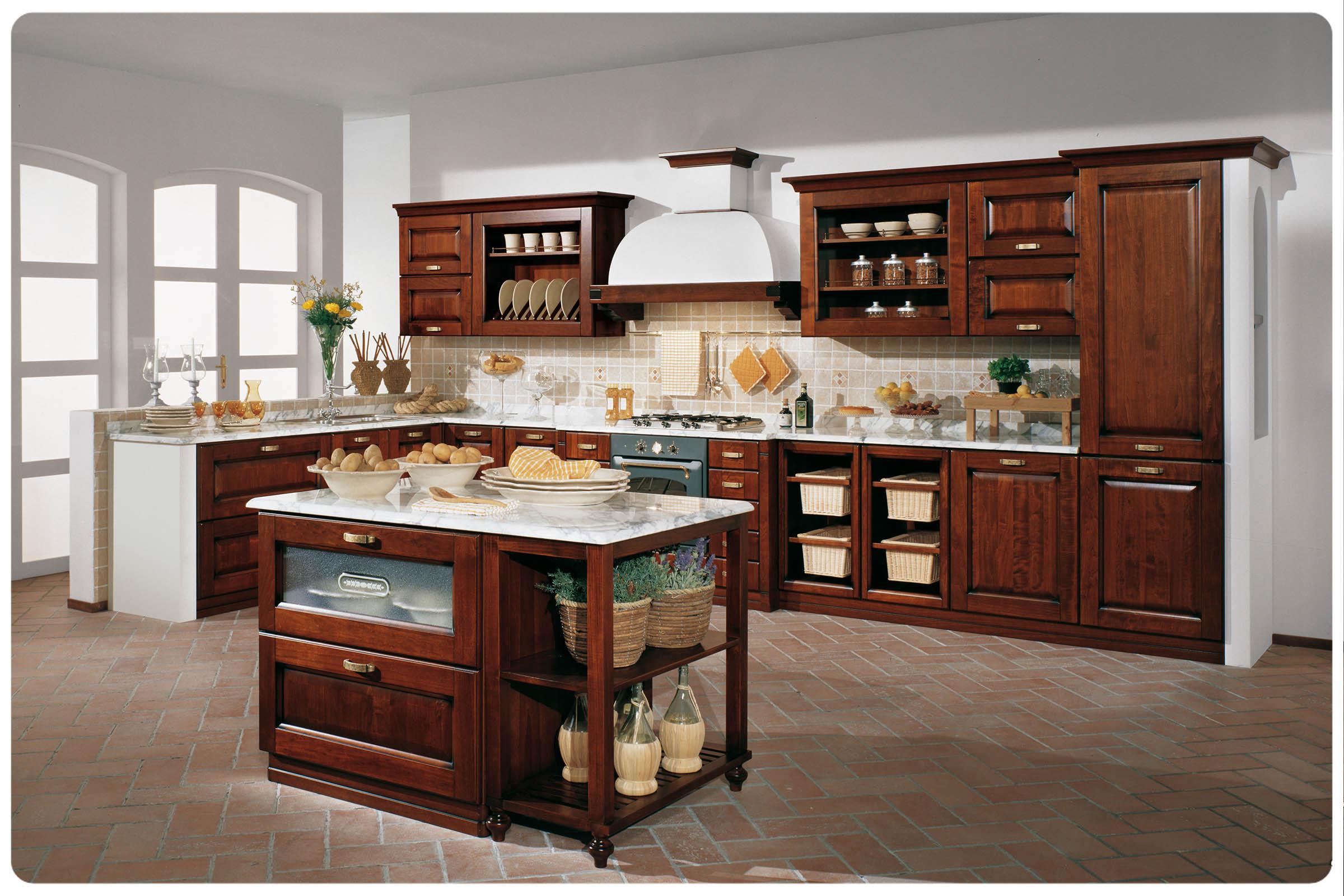 cucine componibili classiche. cucina classica con elettrodomestici ...