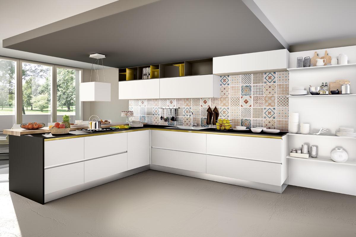 Cucine moderne componibili Easy Lops Pitti Progetto 4 ...