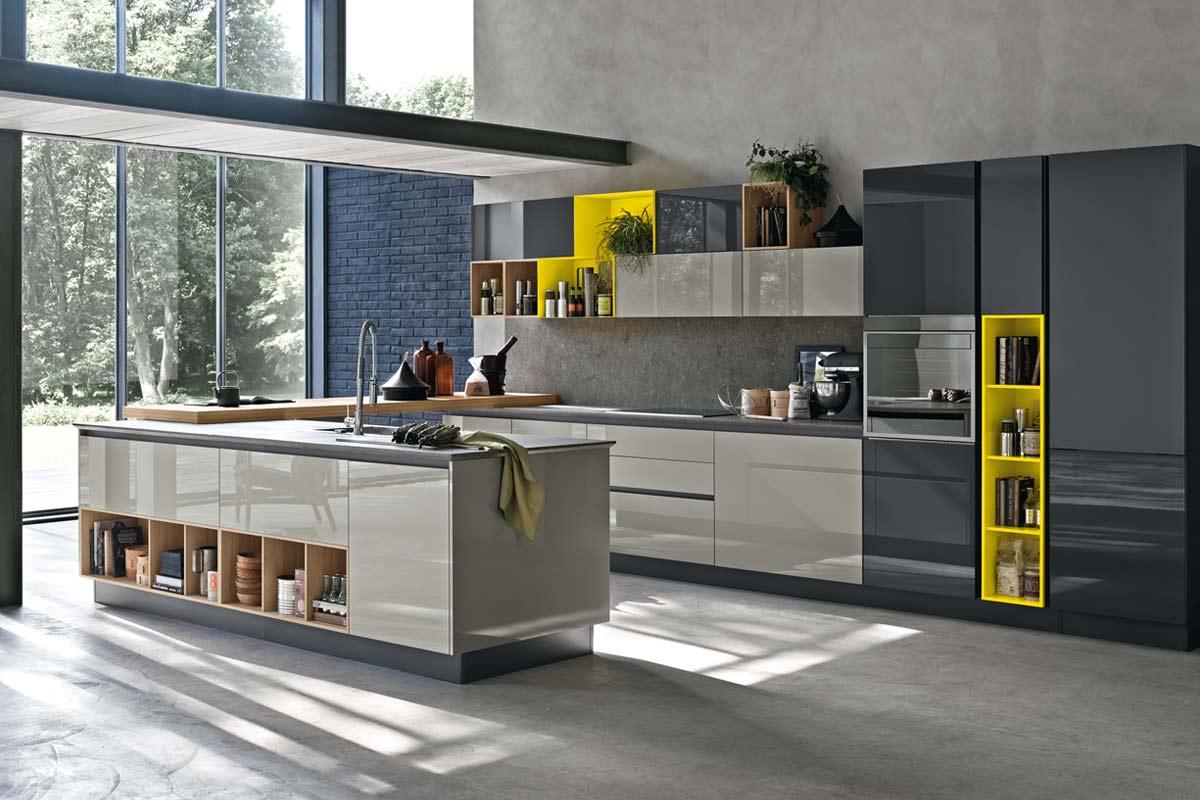 Cucine Componibile Moderne. Amazing Dettaglio Cappa E Pensili ...