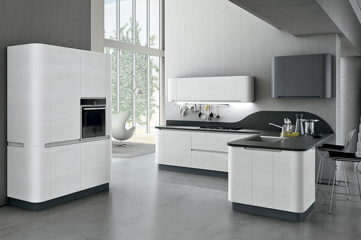 Cucine moderne componibili Stosa Bring 1