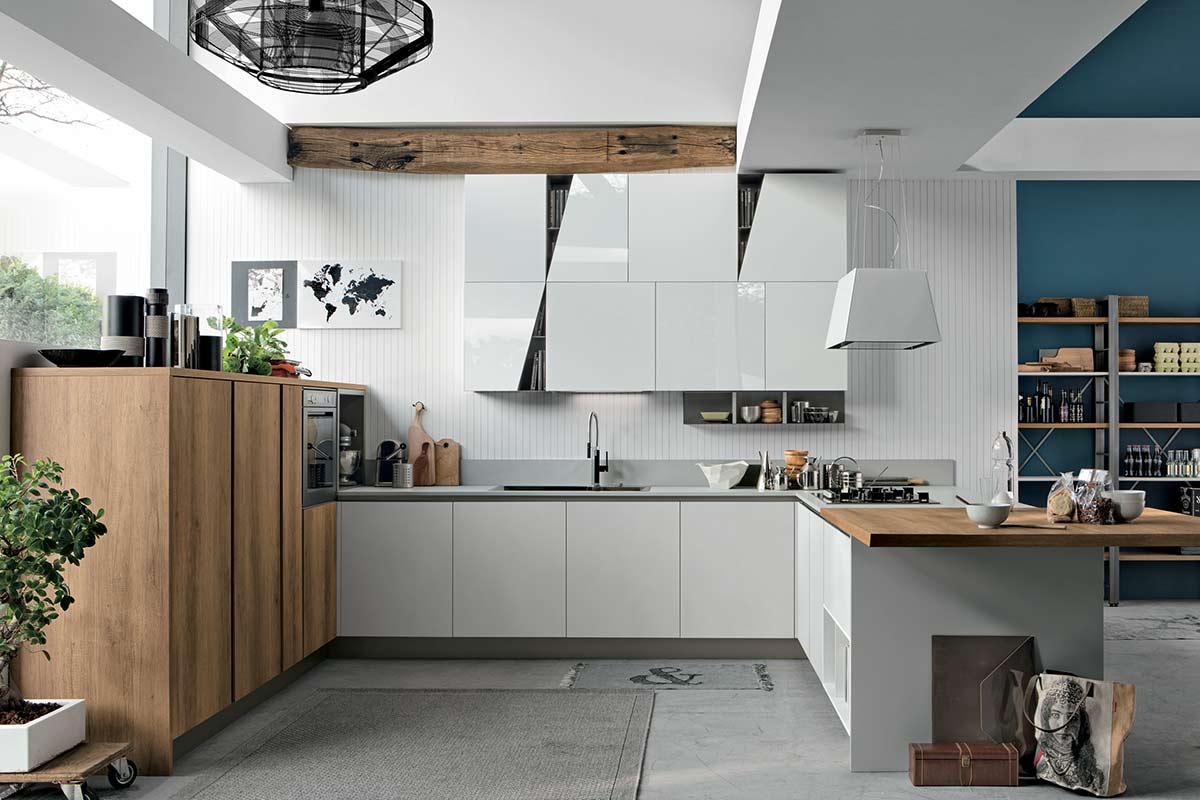 Cucine moderne componibili Stosa Progetto Infinity - cucine ...