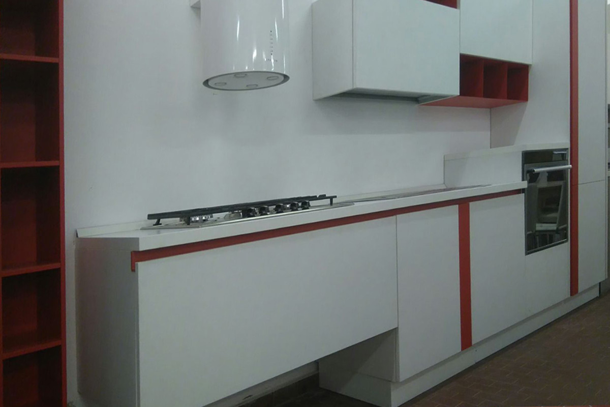 Cucina Outlet Lube Immagina olmo bianco 2