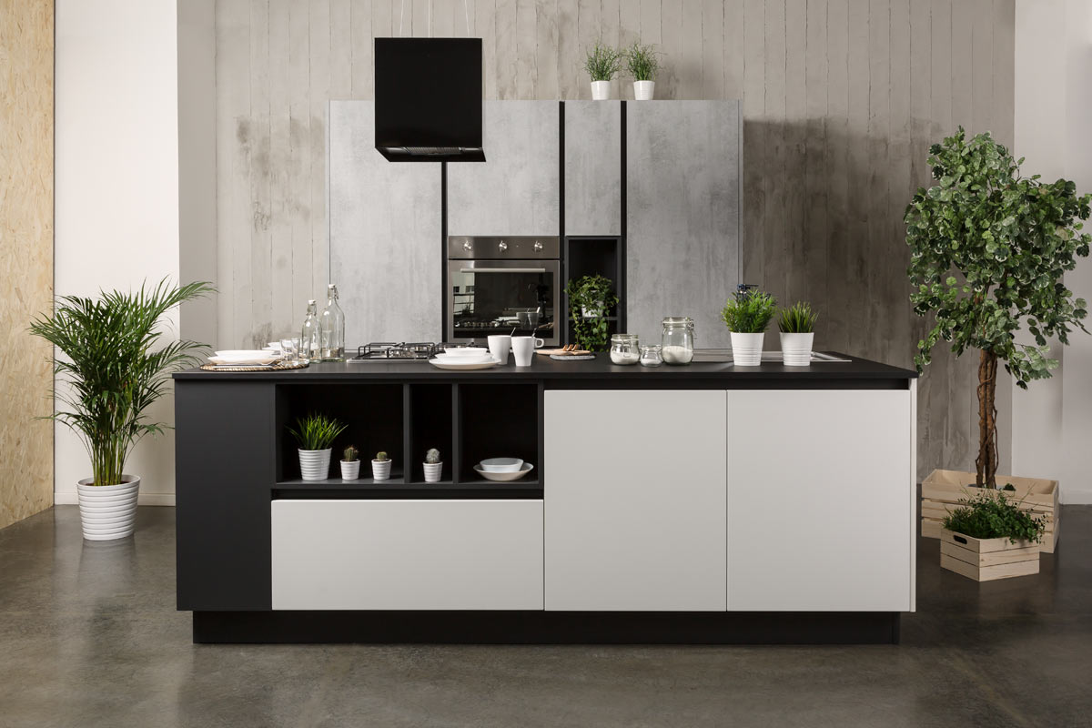 Cucina moderna componibile Easy Lops Ossidiana