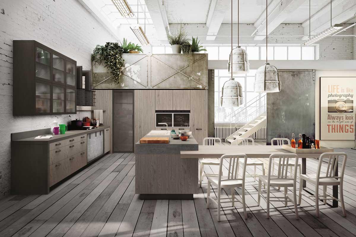 Cucine moderne componibili snaidero loft acquistabile in - Cucine per loft ...