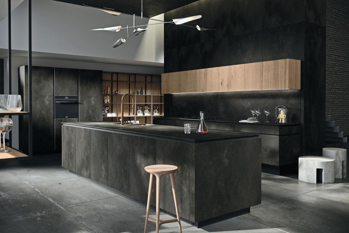Cucine moderne componibili Snaidero Progetto Way Materico ...