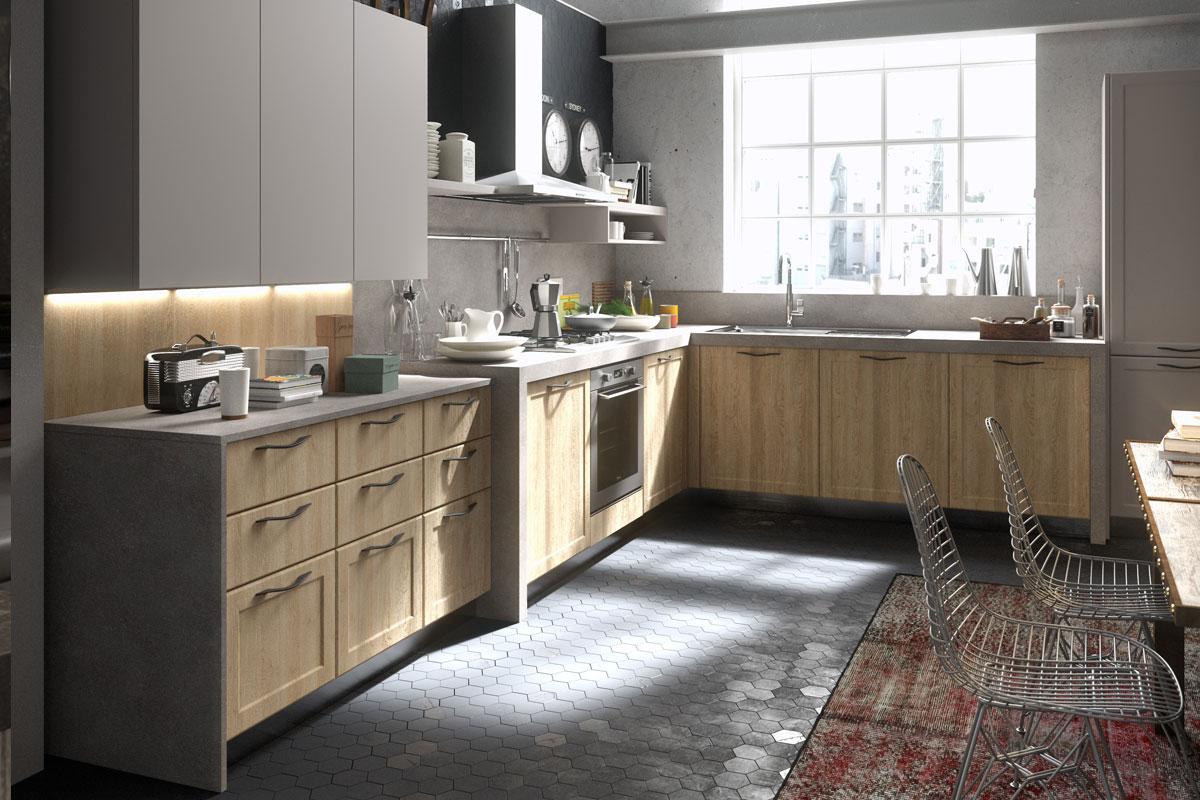 Cucine moderne componibili snaidero abaco contemporanea for Cucina moderna contemporanea