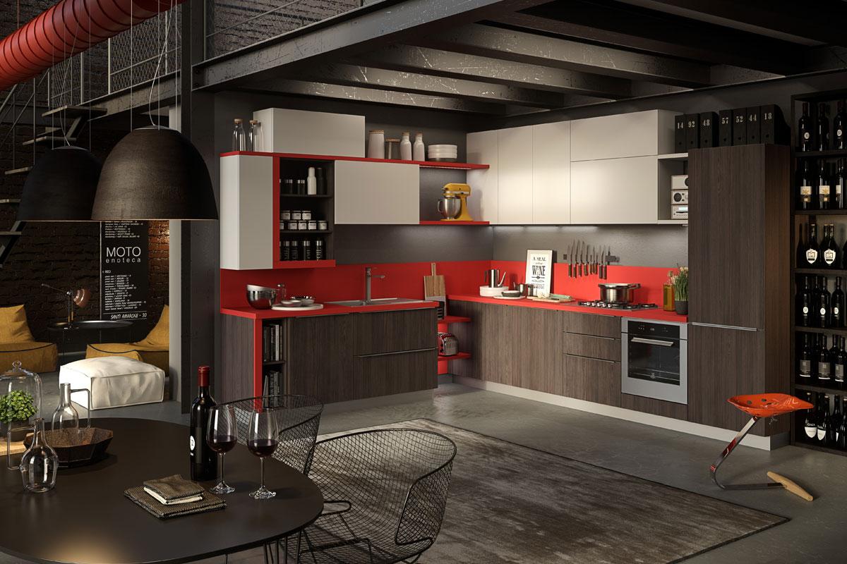 Cucine moderne componibili snaidero abaco strip - Componibili per cucina ...