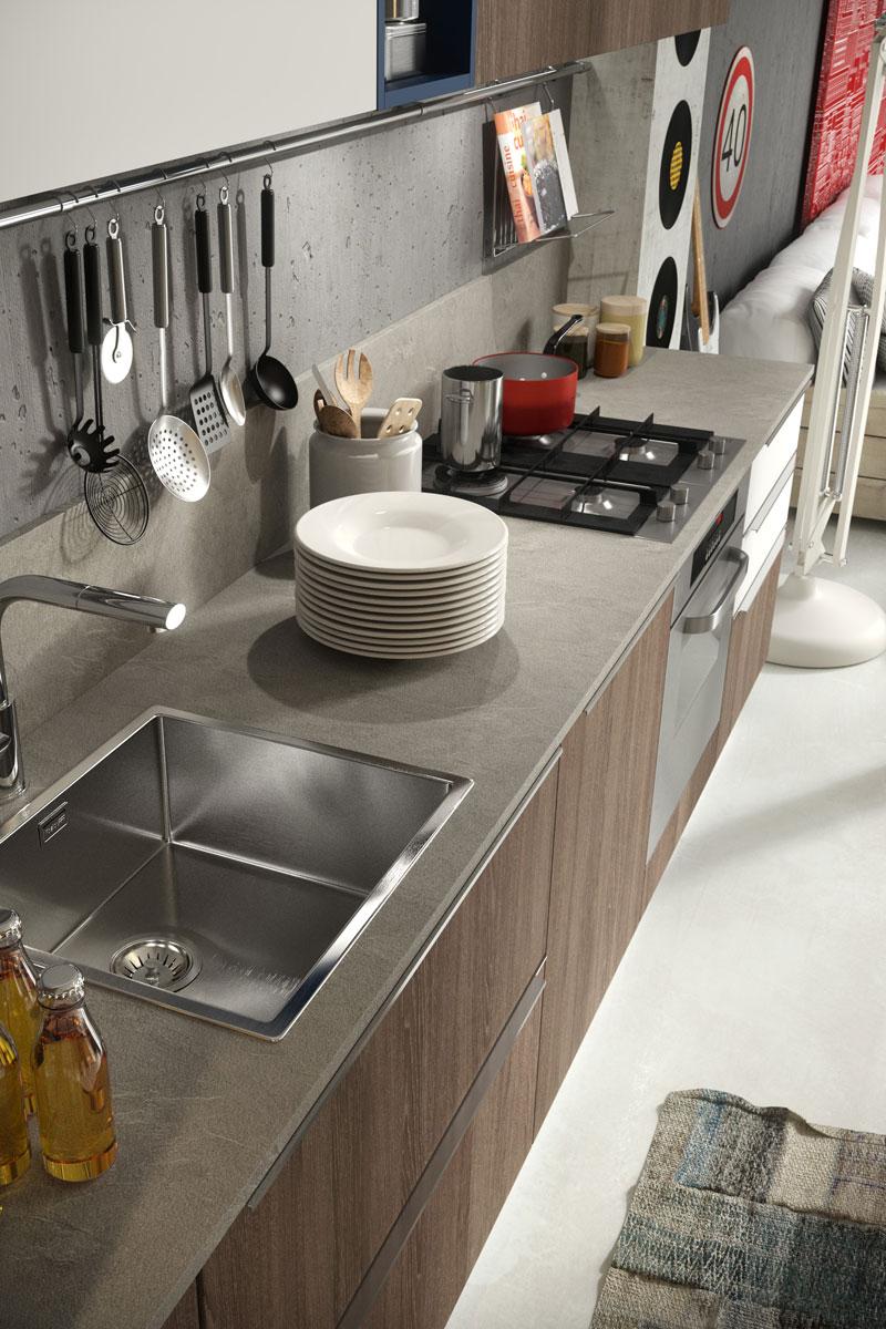 Cucine moderne componibili Snaidero Abaco Strip - Acquistabile in Milano e provincia, Monza e ...