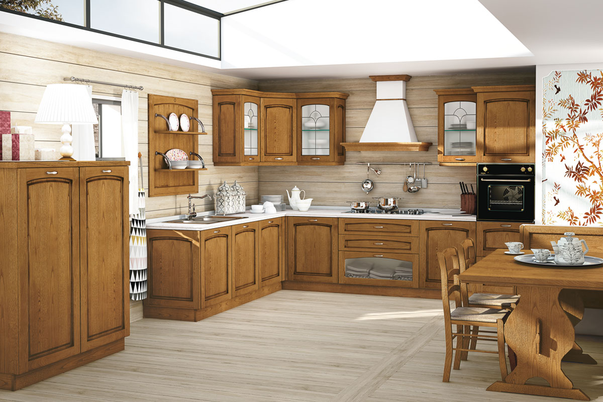 Cucine classiche bianche legno latest cucine classiche - Cucine componibili bianche ...