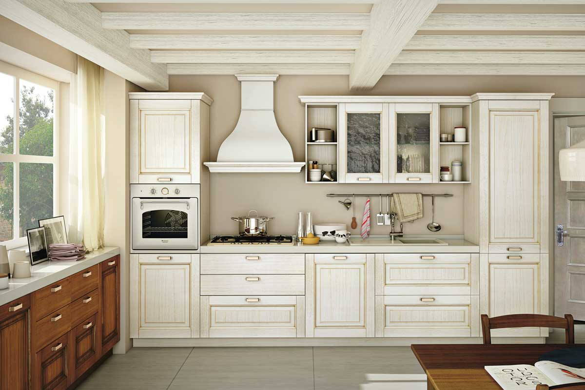 Cucine classiche componibili creo oprah acquistabile in for Cucine country ikea