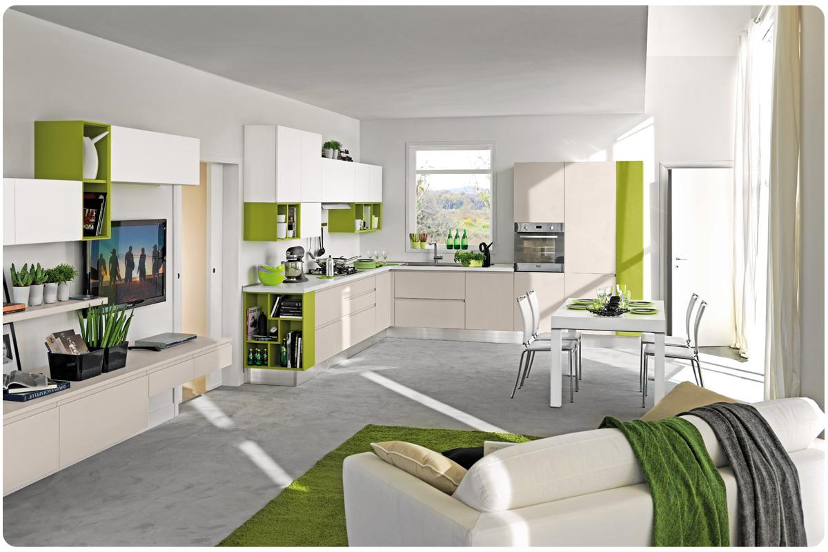 Cucine moderne componibili Lube Linda - cucine - Acquistabile in ...