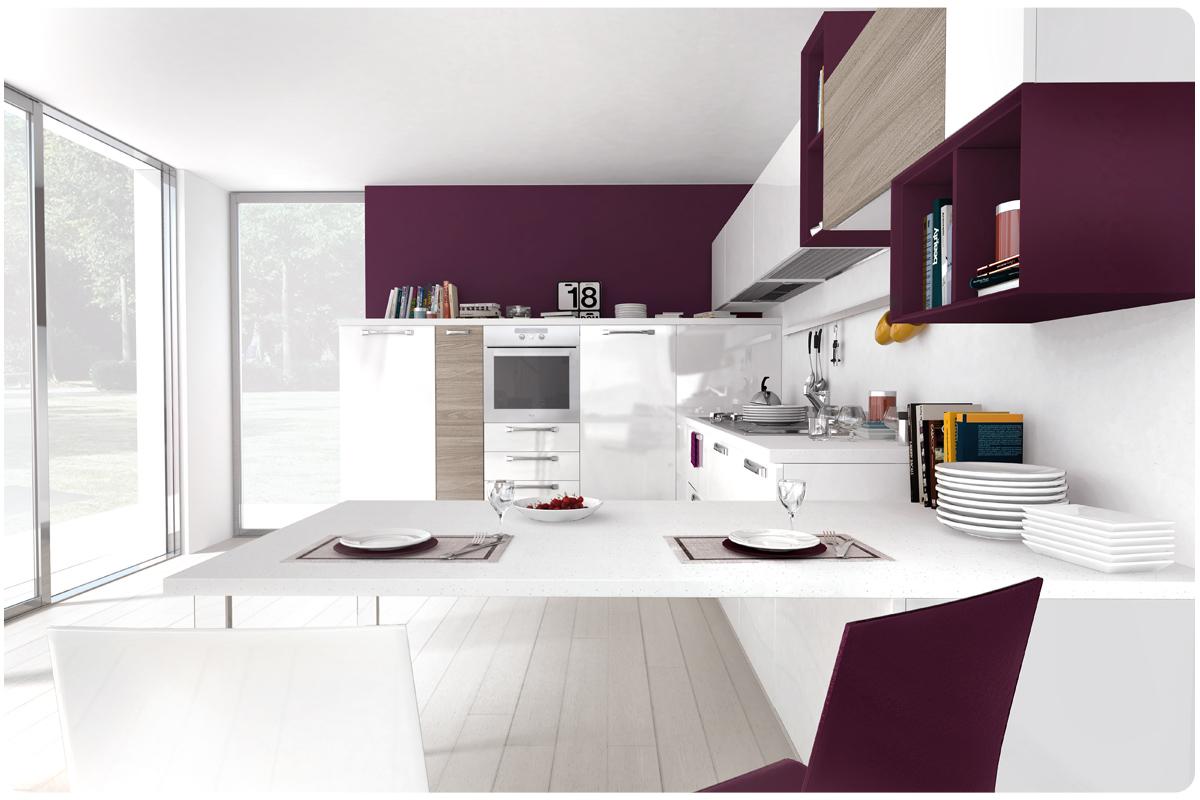 Cucine moderne componibili Lube Noemi - cucine - Acquistabile in ...