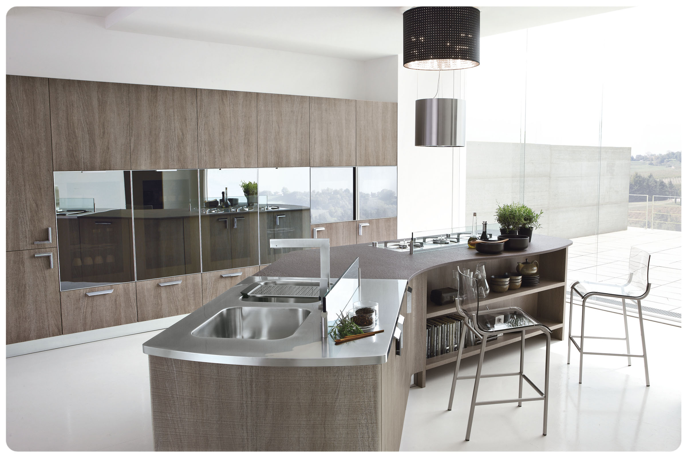 Cucine moderne componibili Stosa Milly