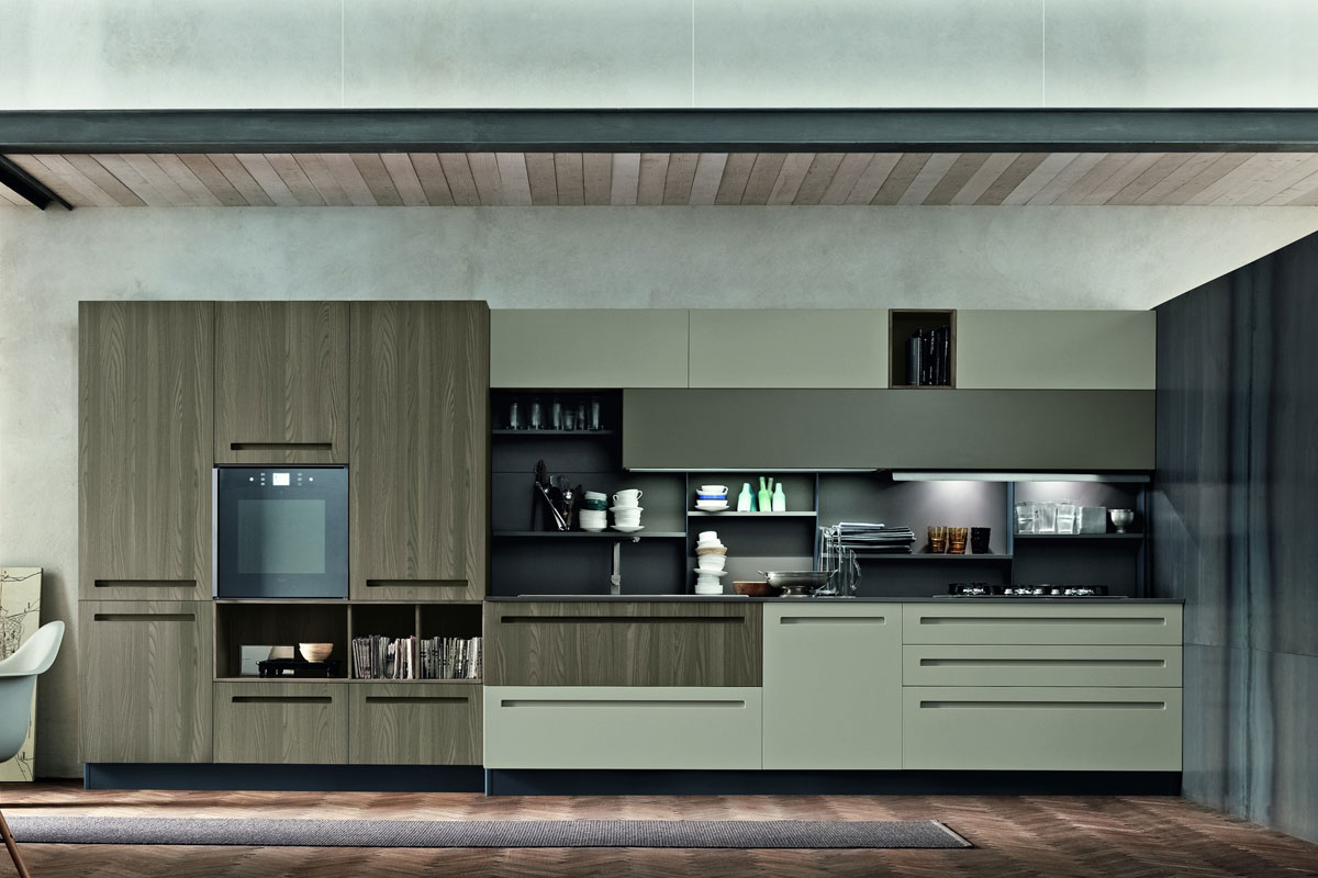 Cucine moderne componibili Stosa Mood