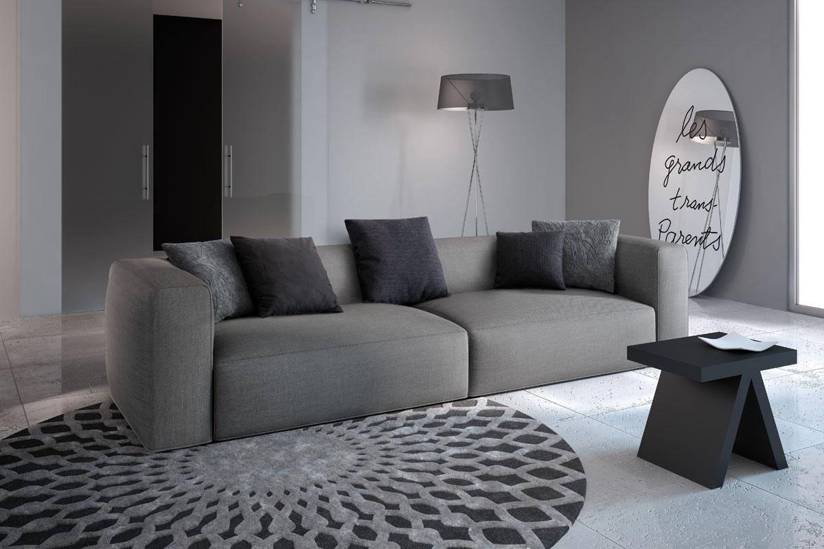 Soggiorno Con Divano Grigio Scuro divano moderno collezione lops natura sense - acquistabile
