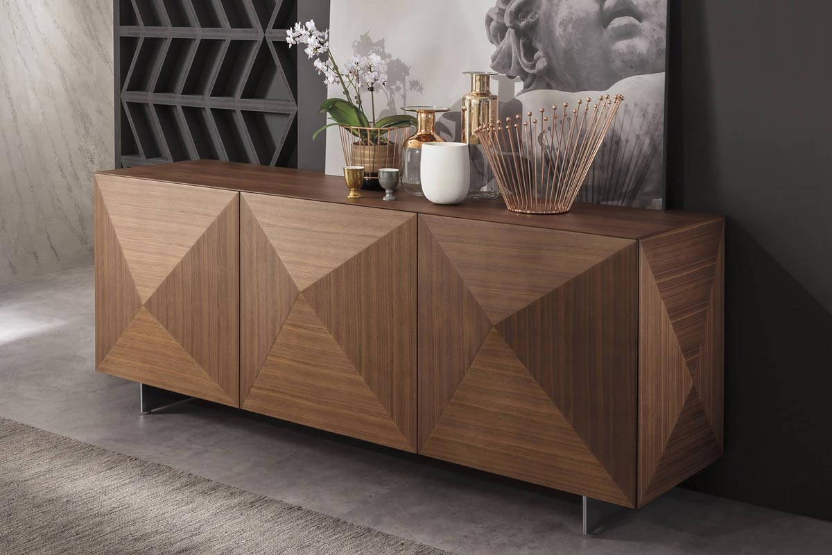 Credenza Moderna In Rovere : Madia moderna top lops cubric wood madie credenze acquistabile