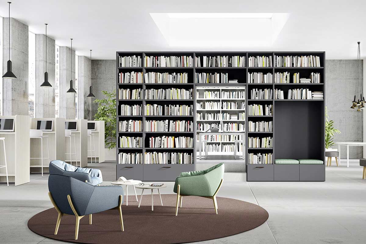 Libreria moderna componibile Easy Lops Home Spaces 2