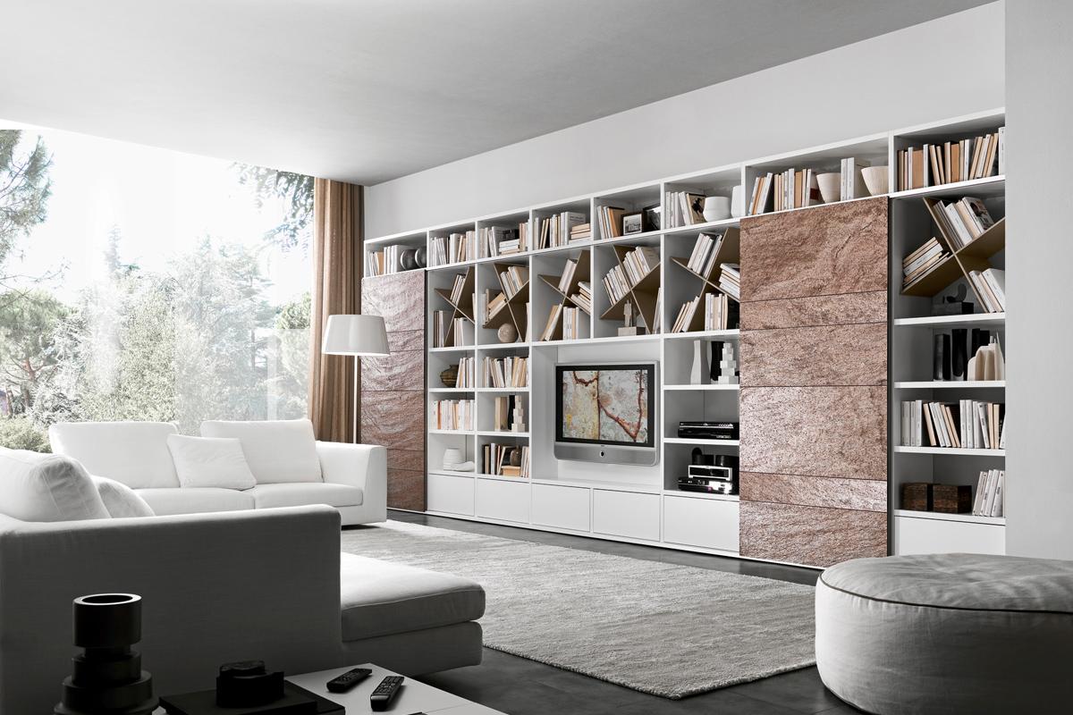 Libreria moderna componibile Presotto Progetto Pari e Dispari ...